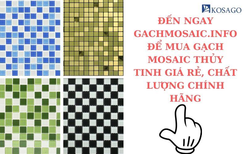 Chọn mua gạch mosaic trang trí cao cấp tại Hà Nội